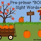 """BOO"" Pre-Primer Sight Word Game"