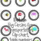 BUG LABELS for Transportation, Lunch Count, Clip chart and more!