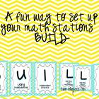 BUILD math station signs