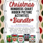 BUNDLE Christmas Hundreds Chart Hidden Picture Activities