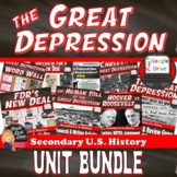 BUNDLE – The Great Depression– 13 Day Unit Plan (secondary