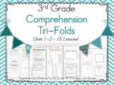 BUNDLE Units 1-3 - Wonders - Comprehension Tri-Folds 3rd Grade