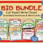 "BUNDLE of ""Cut, Paste, Write, Draw! Scrambled Sentences"" p"