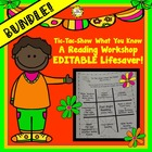 BUNDLED Tic Tac Toe Show What You Know Reading Workshop Ed