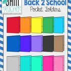 Back 2 School Supplies: Pocket Folder Clip Art / Graphics