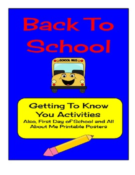 Back To School Activities & Printables