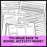 Back-To-School Activity Packet - 4th Grade