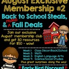 Back To School August Exclusive Membership #2 Information ONLY