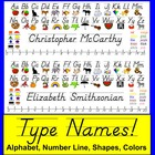 Back To School Desk Name Plates-D'Nealian-Type Names of Students!