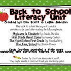 Back To School Literacy Unit