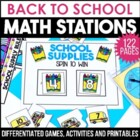 Back To School Math Stations Galore-12 Activities To Get T