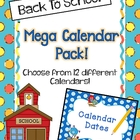 Back To School Mega Calendars Pack! {2013-2014}