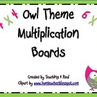 Back To School Owl Themed Multiplication Signs