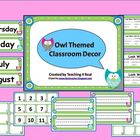 Back To School Owl Themed Open House Powerpoint & Classroom Decor