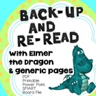 Back-Up and Reread ELMER AND THE DRAGON Smart Board, PPt, PDFs