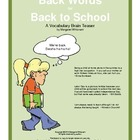 Back Words for Back to School  A Vocabulary Brain Teaser