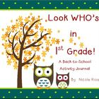 Back to School - 1st Grade Activity Journal