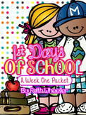 Back to School - A Week One Mini Packet