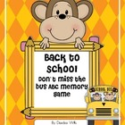 Back to School ABC Memory and Don't Miss the Bus! Game
