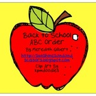 Back to School ABC Order Center