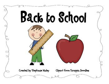 Back to School - ABC Order with Pictures