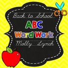 Back to School ABC Word Work {FREEBIE}