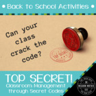 Back to School Activities - Top Secret!