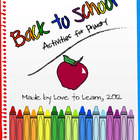 Back to School - Activities for K-2 (Primary)