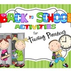 Back to School Activities for Teaching Procedures