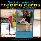 Back to School All About Me Trading Cards Activity