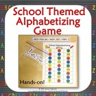 Back to School Alphabetizing Hands-On Game & Writing Activ