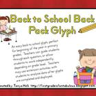 Back to School Backpack Glyph {FREEBIE}