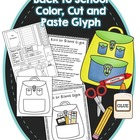 Back to School Backpack Glyph - color, cut and paste
