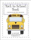 Back to School Book - includes math activity and classroom