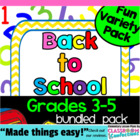 Back to School Bundled Variety Pack for Grades 3-5