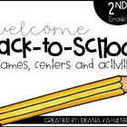 Back-to-School Centers {2nd Grade}