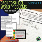 """Back to School"" Common Core Word Problem Collection: Grade 3-5"