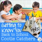 Back to School Cootie Catchers (Beginning of the Year Activity)