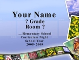Back to School - Curriculum Night - Open House Power Point