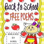 Back to School - FREE School Poems (3 Poems - 2 Versions)