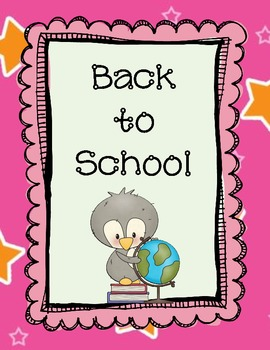 Back to School First Day Activities