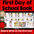 First Day of School Book (Full/Half Page in Color and Blac