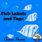 Back to School Fish Theme Tags and Labels