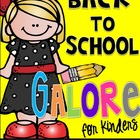 Back to School Galore for Kinders: Photo Booth, Getting to