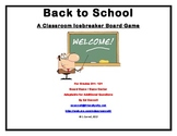 Back to School Game to Learn Procedures and Rules