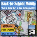 "Back-to-School ""Get to Know Me"" & Goals Mobile {Grades 6-9}"