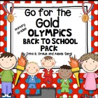 Back to School Go for the Gold Unit (Olympic Theme)