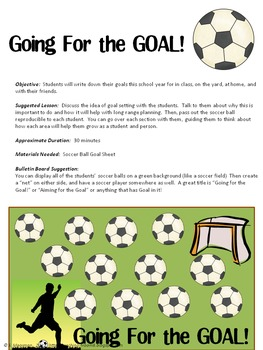 TO SCHOOL GOAL SETTING AND SELF-REFLECTION SPORTS THEMED ACTIVITIES ...