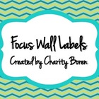 Back to School Green and Turquoise Focus Wall Labels