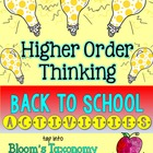 Back to School Higher Order Thinking Activities {Gifted or